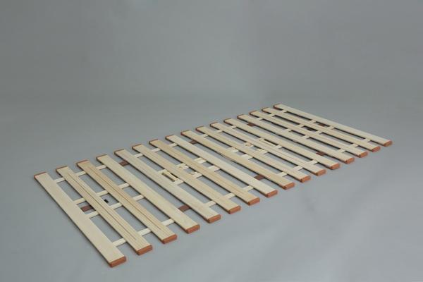 【メーカー直送・大感謝価格】薄型軽量桐すのこベッド 4つ折れ式 LYF410 ダブル W140×D200×H1.8cm 6.5kg 天然木(桐)