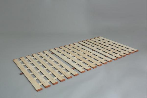 【メーカー直送・大感謝価格】薄型軽量桐すのこベッド 3つ折れ式 LYT410 ダブル W140×D200×H1.8cm 7.5kg 天然木(桐)
