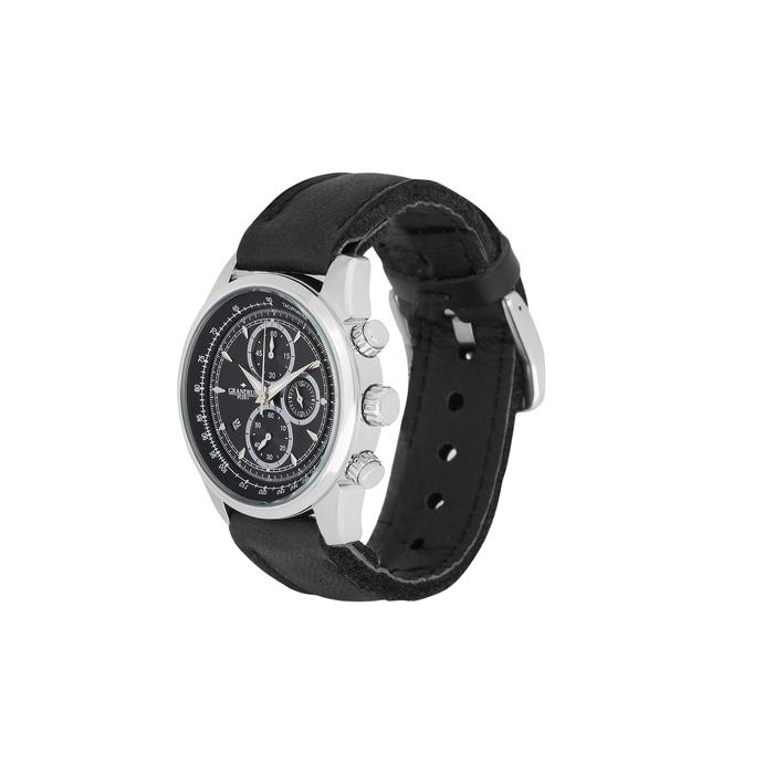 【メーカー直送・大感謝価格 】GRANDEUR PLUS+ グランドール プラス GRP001E フィンランドエルク革腕時計 ブラック/ネイビー/キャメル