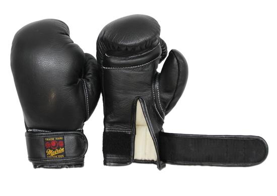 【メーカー直送・大感謝価格】日本拳法防具 日本拳法グローブ(黒) 6オンス 少年用MT式(マジックテープ式) N-20 明倫産業