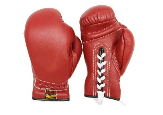 【メーカー直送・大感謝価格】日本拳法防具 日本拳法グローブ(赤) 6オンス 少年用紐式 N-23 明倫産業