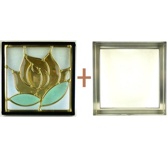 ステンド グラス ステンドグラス ガラス 三層パネル窓ドア枠セットsgsq201f(取寄品、別途送料必ず発生、割引不可、キャンセル返品不可、突然終了あり)
