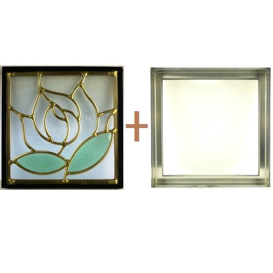 ステンド グラス ステンドグラス ガラス 三層パネル窓ドア枠セットsgsq202f(取寄品、別途送料必ず発生、割引不可、キャンセル返品不可、突然終了あり)