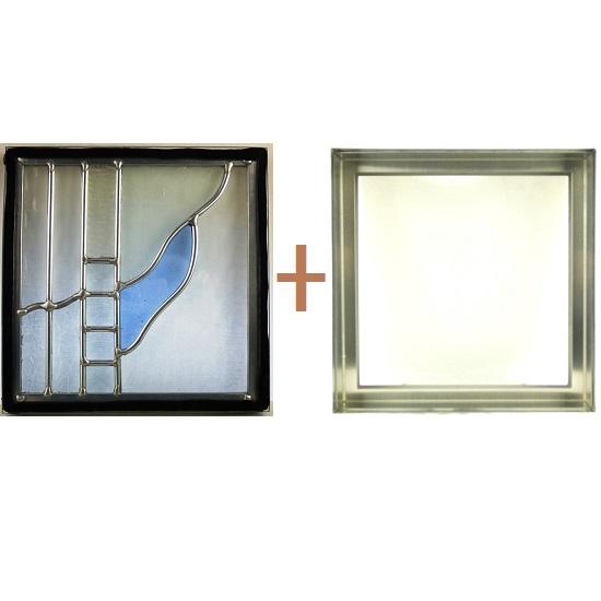 ステンド グラス ステンドグラス ガラス 三層パネル窓ドア枠セットsgsq208f(取寄品、別途送料必ず発生、割引不可、キャンセル返品不可、突然終了あり)