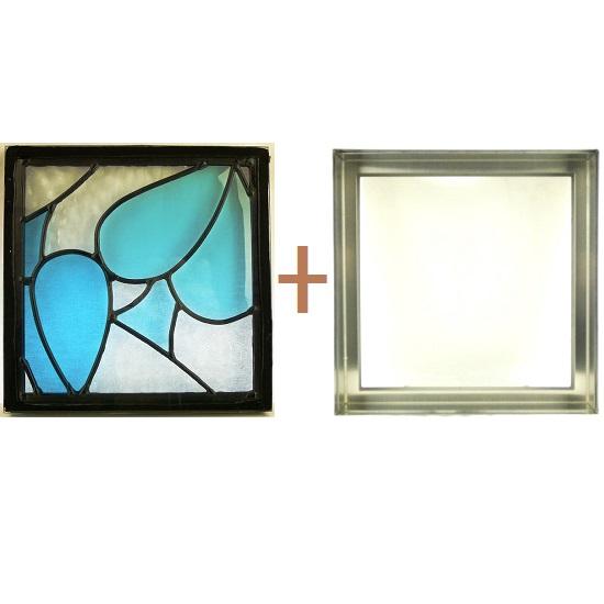 ステンド グラス ステンドグラス ガラス 三層パネル窓ドア枠セットsgsq210f(取寄品、別途送料必ず発生、割引不可、キャンセル返品不可、突然終了あり)