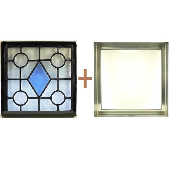 ステンド グラス ステンドグラス ガラス 三層パネル窓ドア枠セットsgsq216f(取寄品、別途送料必ず発生、割引不可、キャンセル返品不可、突然終了あり)