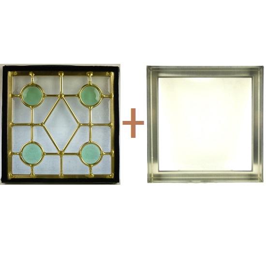 ステンド グラス ステンドグラス ガラス 三層パネル窓ドア枠セットsgsq217f(取寄品、別途送料必ず発生、割引不可、キャンセル返品不可、突然終了あり)