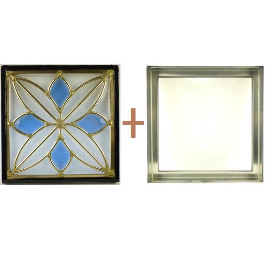 ステンド グラス ステンドグラス ガラス 三層パネル窓ドア枠セットsgsq219f(取寄品、別途送料必ず発生、割引不可、キャンセル返品不可、突然終了あり)
