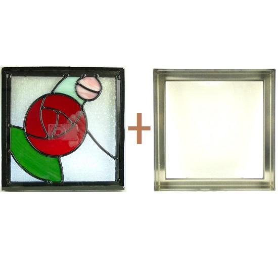 ステンド グラス ステンドグラス ガラス 三層パネル窓ドア枠セットsgsq225f(取寄品、別途送料必ず発生、割引不可、キャンセル返品不可、突然終了あり)