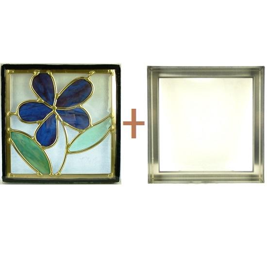 ステンド グラス ステンドグラス ガラス 三層パネル窓ドア枠セットsgsq226f(取寄品、別途送料必ず発生、割引不可、キャンセル返品不可、突然終了あり)