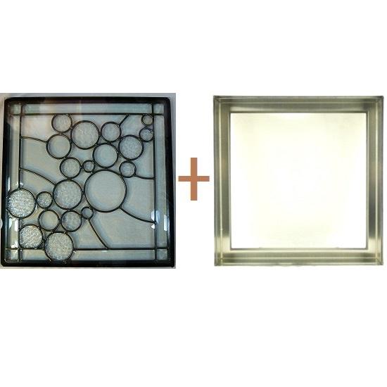 ステンド グラス ステンドグラス ガラス 三層パネル窓ドア枠セットsgsq406f(取寄品、割引不可、キャンセル返品不可、突然終了あり)