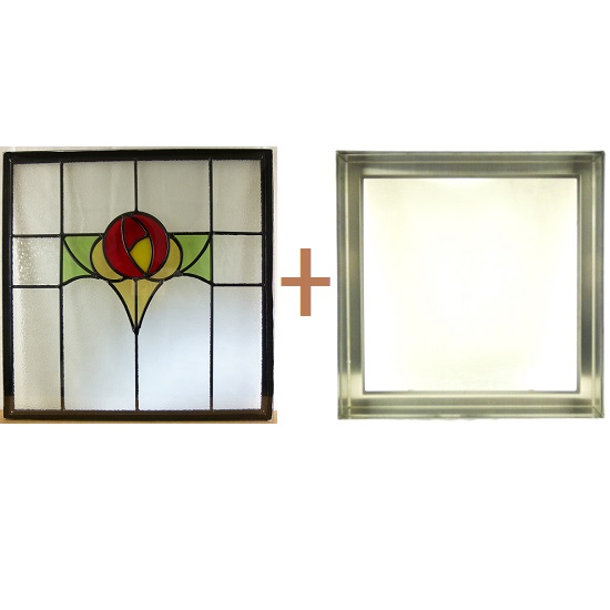 ステンド グラス ステンドグラス ガラス 三層パネル窓ドア枠セットsgsq418f(取寄品、割引不可、キャンセル返品不可、突然終了あり)