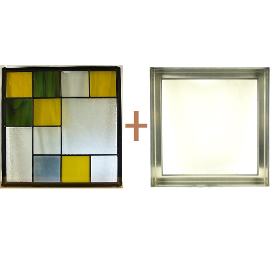 ステンド グラス ステンドグラス ガラス 三層パネル窓ドア枠セットsgsq424f(取寄品、割引不可、キャンセル返品不可、突然終了あり)