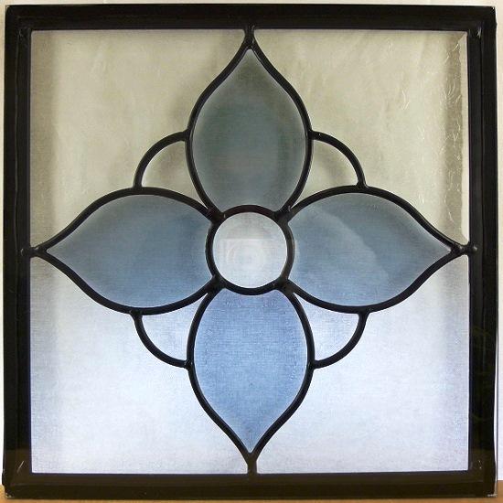 ステンド グラス ステンドグラス ステンドガラス デザインパネル300角sgsq313(取寄品、割引不可、キャンセル返品不可、突然終了あり)