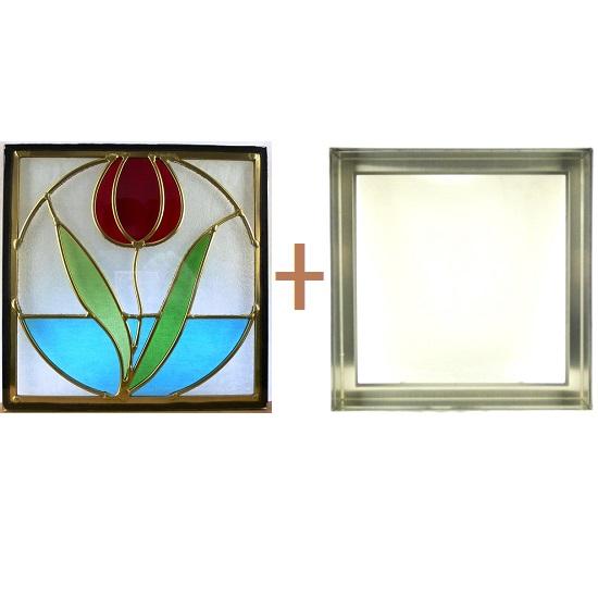 ステンド グラス ステンドグラス ガラス 三層パネル窓ドア枠セットsgsq303f(取寄品、割引不可、キャンセル返品不可、突然終了あり)