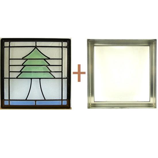 ステンド グラス ステンドグラス ガラス 三層パネル窓ドア枠セットsgsq310f(取寄品、割引不可、キャンセル返品不可、突然終了あり)