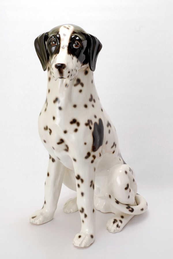 【メーカー直送・大感謝価格 】陶器犬ダルメシアン オス