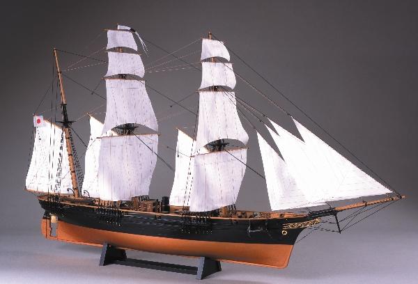 【メーカー直送・大感謝価格 】木製帆船模型1/75『咸臨丸(帆付)』(w)