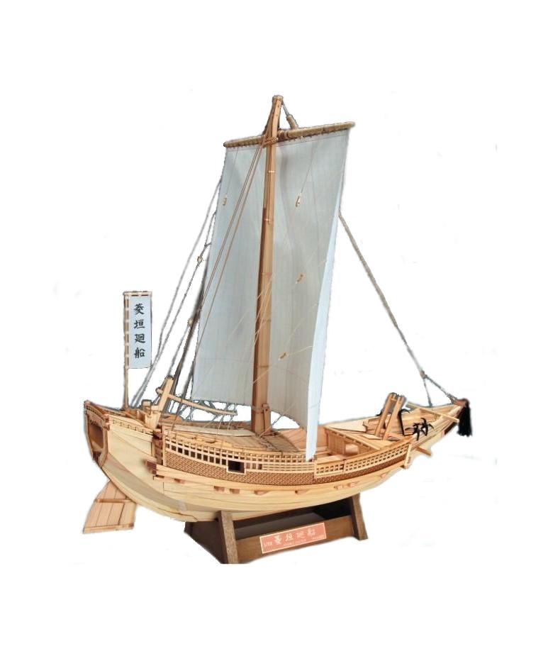 大感謝価格『1/72『菱垣廻船』 』送料無料『メーカー直送品。代引不可・同梱不可・返品キャンセル・割引不可』 インテリア 帆船模型 飾り