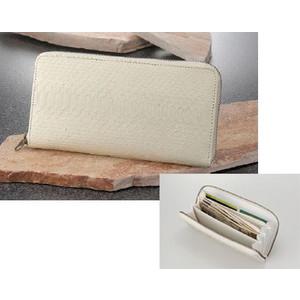 【大感謝価格 】白蛇 ファスナー付き長財布