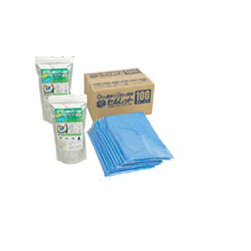 1個プレゼント企画あり『非常用トイレ「セルレットR」100回分 袋付き 業務用』送料無料、4個で梱包時に1個多く入れます ポイント