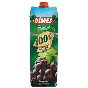 【2個セット】『グレープジュース果汁100% 1000ml×12本セット』割引不可トルコのジュース老舗ブランド品 ディメス グレープジュース果汁100%