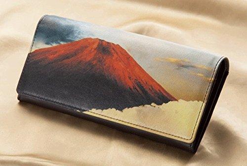 右肩上がり 金雲赤富士財布
