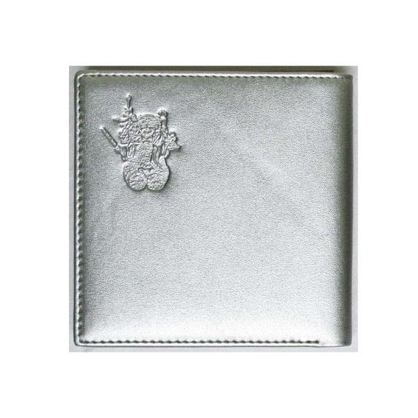 【大感謝価格 】三面大黒天 銀色の財布 二つ折り財布