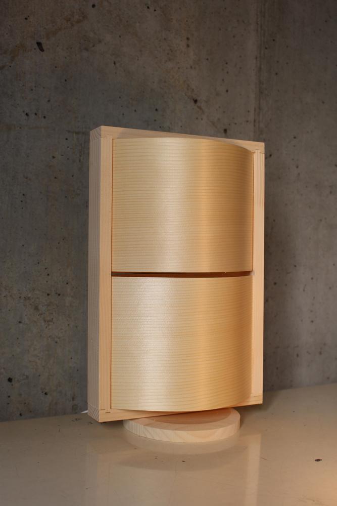 『Navy WOOD LAMP kit WAVE(M)』(割引不可 送料無料)照明 おしゃれ 木製 寝室 置型 制作キット