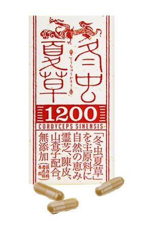『冬虫夏草1200 120粒』送料無料5個で梱包時に1個多く入れます(割引不可)冬虫夏草 サプリ冬虫夏草1200