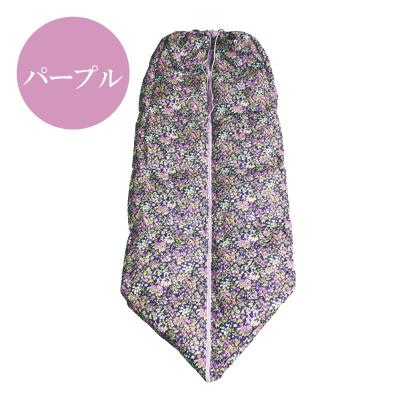 【メーカー直送・大感謝価格 】カミール3WAYダウン寝袋 パープル/ベージュ