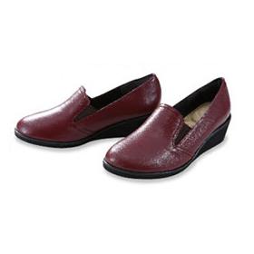 『国産5E牛皮ウェッジパンプス』送料無料幅広足 甲高足 靴 くつ レディース 女性国産5E牛皮ウェッジパンプス