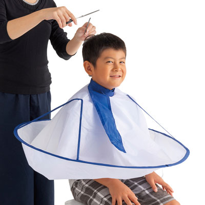 自宅で床屋さん ディスカウント ヘアカット 大人子供兼用 おうちで使う散髪ケープ 送料無料限定セール中 大感謝価格