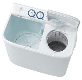 『送料無料』 メーカー直送品の大感謝価格 『Haier ハイアール 二槽式洗濯機(5.5kg) JW-W55E ホワイト』 家電 コンパクト ステンレス脱水槽 清潔 見やすい操作パネル メーカー直送品。返品・キャンセル・代引・同梱不可