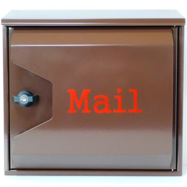 郵便ポスト 郵便受け 大型メールボックス壁掛けブラウン色プレミアムステンレスポスト pm042(割引不可、キャンセル返品不可、突然終了あり)プレミアグレード