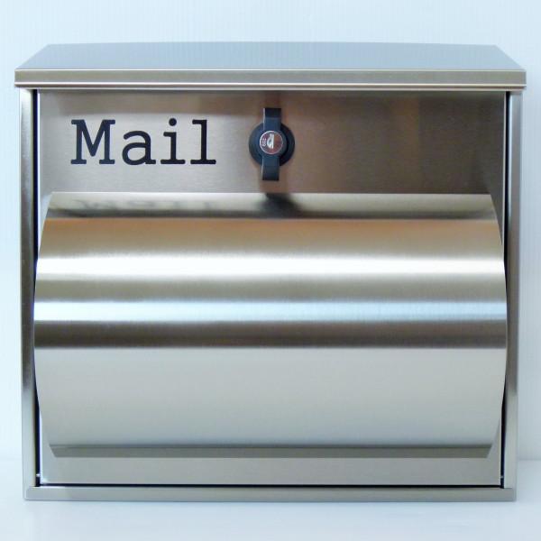 ポスト 郵便ポスト 郵便受け メールボックス壁掛けシルバー色 ステンレスポスト m091(割引不可、キャンセル返品不可、突然終了あり)