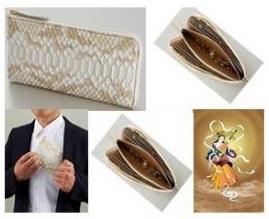 【大感謝価格 】『金運祈願・開運祈願アップ「弁財天・白蛇財布」』