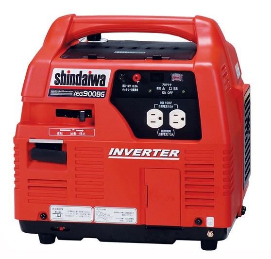『shindaiwa インバータ発電機 IEG900BG』(メーカー直送品。代引不可・同梱不可・返品キャンセル割引不可)送料無料地震災害時の停電対策 機械 機器 防災 非常用 非常時 shindaiwa インバータ発電機 IEG900BG