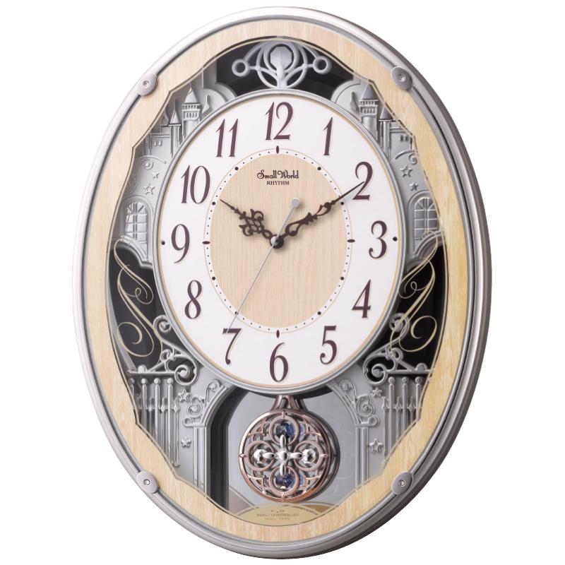 "Small World電波メロディ掛時計 ""スモールワールドクラッセ""46.6×53×13.5cm・2700g【割引不可・取り寄せ品キャンセル返品不可】"