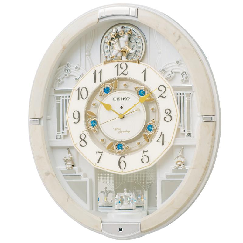 セイコー電波からくり掛時計45.6×52.3×14.5cm・3400g【割引不可・取り寄せ品キャンセル返品不可】