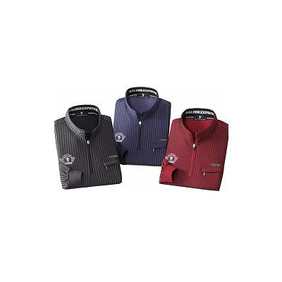 【メーカー直送・大感謝価格 】SALOON EXPRESS サルーンエクスプレス シャドーストライプハイネックシャツ3色組 AO-0027