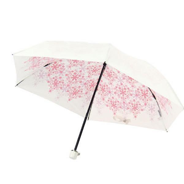 【大感謝価格 】【UVION】 プレミアムホワイト50ミニ 50センチ傘 クリスタル ピンク/ブルー