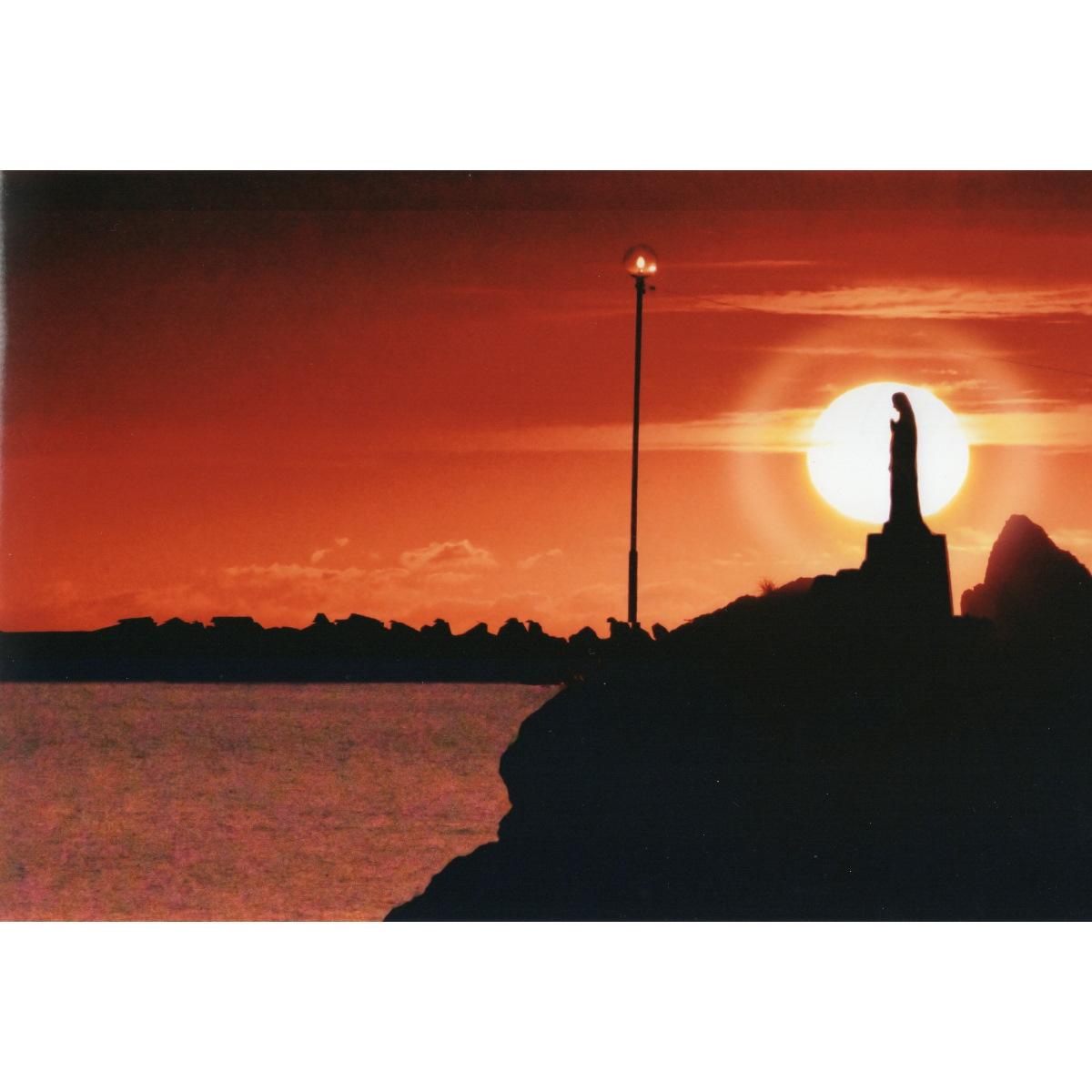 【大感謝価格 】奇跡の写真 秋元隆良 夕陽のマリア像