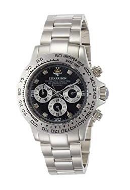 【大感謝価格 】JH-014DS J.HARRISON ジョンハリソン 8石天然ダイヤモンド付自動巻&手巻き時計