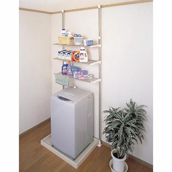 ステンレス洗濯機ラックDTSR-60【単品】【割引不可・返品キャンセル不可】