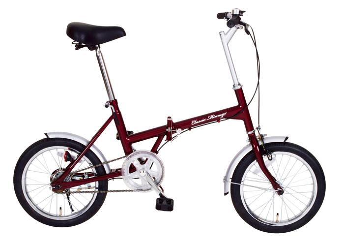 『ClassicMimugo(クラシックレッド)FDB16/16インチ折畳自転車 クラシックレッド』メーカー直送品。代引不可・同梱不可・返品キャンセル・割引不可(北海道・沖縄・離島は別途送料発生)アウトドア 自転車『ClassicMimugo FDB16/16インチ折畳自転車』