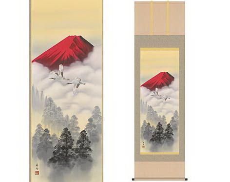 【大感謝価格 】山水掛軸 霊峰飛翔 伊藤香旬筆