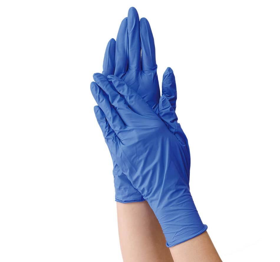 【10個セット】【大感謝価格 】【医療機器】セーフタッチ ネオ ニトリルグローブ ブルー Lサイズ 200枚入