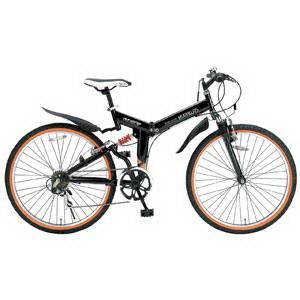 【メーカー直送】【大感謝価格 】MyPallas マイパラス 折畳自転車 ATB26/6SP Wサス M-670 ブラック/ホワイト/オレンジ