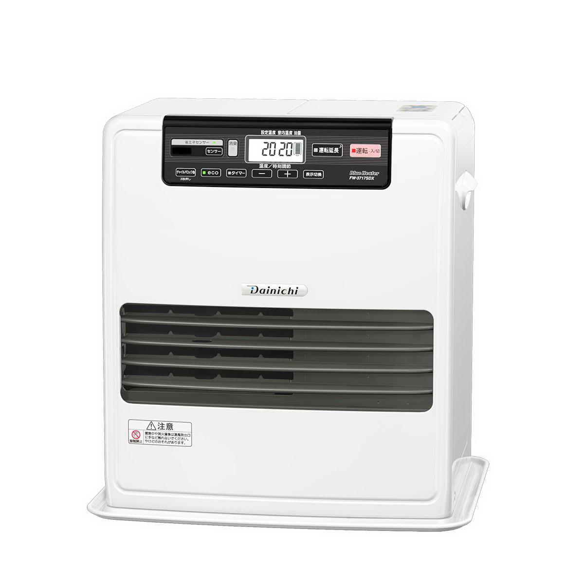 【大感謝価格】ダイニチ 家庭用石油ファンヒーター クールホワイト FW-3717SDX-W